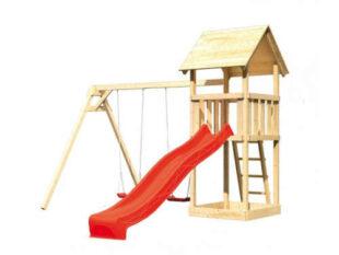 Detské ihrisko so šmýkačkou zo smrekového dreva