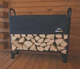 Kvalitný a pevný drevák Dekorhome 126 x 39 x 118 cm čierny