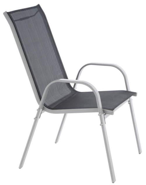 Lacná kovová stolička na balkón alebo terasu