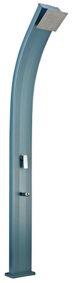 Modrý dizajn hliníková vonkajšia solárna sprcha