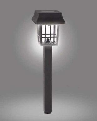 Solárna lampa v modernom štvorcovom tvare