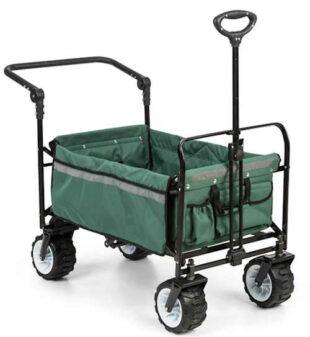 Ťažný prepravný vozík, ktorý zvládne aj náročný terén