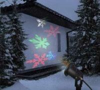 Vonkajší vianočný projektor LED snehových vločiek