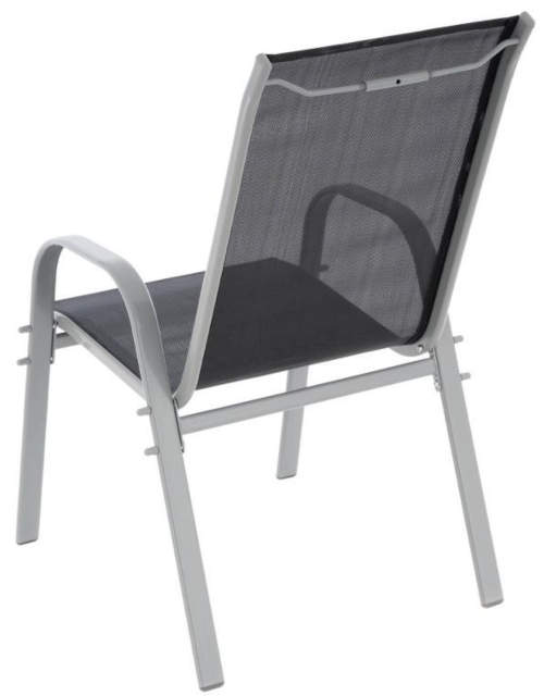 Záhradná stolička s pevnou kovovou konštrukciou