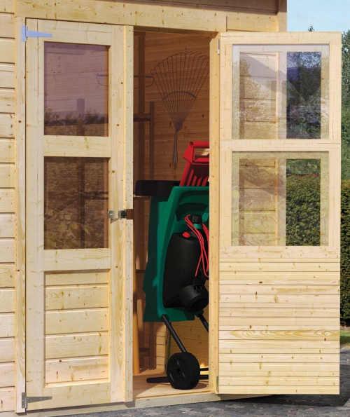 Záhradný domček Dekorhome s prístavbou