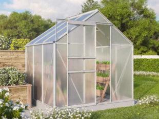 Hliníkový skleník so strešným oknom