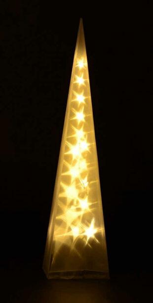 Osvetlená pyramída so žiarovkami LED